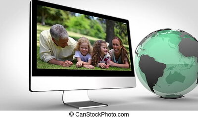 Multimedia devices with an Earth im