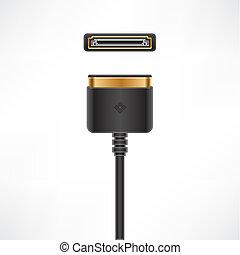 Multimedia Dock Cable - Multimedia Dock Connector plug &...