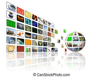 multimedia, grafické pozadí