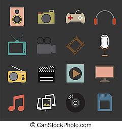multimedia, icona