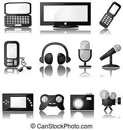 multimedia, iconos