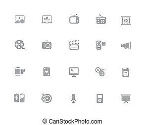 Multimedia Icons // 32px White Series