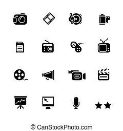 Multimedia Icons // Black Series