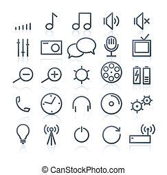 multimedia Icons - set of original multimedia Icons