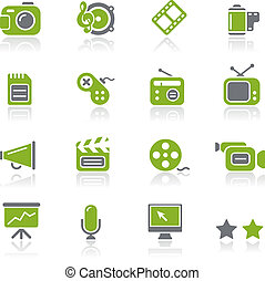 Multimedia Icons / Natura - Vector icons for your website or...