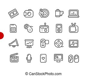Multimedia Icons // Red Point Series