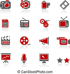Multimedia Icons / Redico - Vector icons for your website or...
