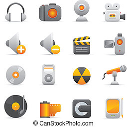 Multimedia Icons | Yellow 08