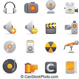 Multimedia Icons | Yellow 08
