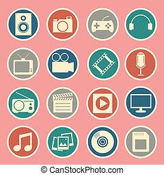 multimedia, ikon