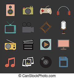 multimedia, ikone