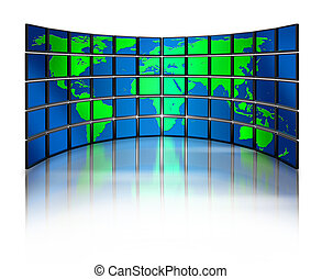 Multimedia monitor world