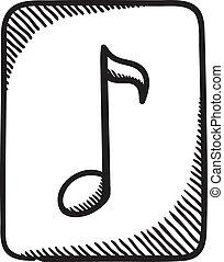 Multimedia music audio note symbol.