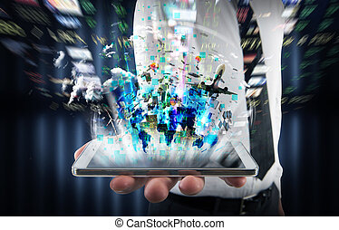 Multimedia on cell phone
