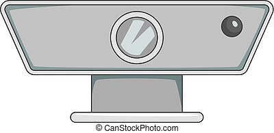 Multimedia projector icon monochrome