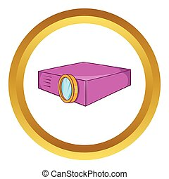 Multimedia projector vector icon
