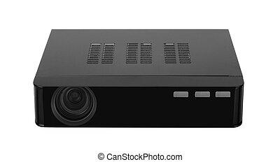 multimedia, projetor, branco, fundo