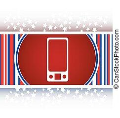 multimedia smart phone icon, button, graphic design element vector