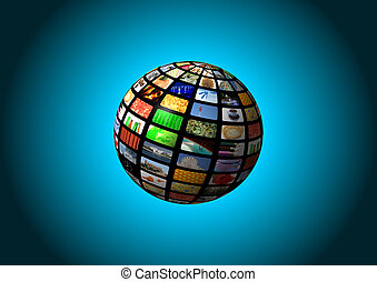 multimedia sphere background