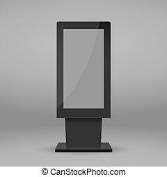 multimedia, stehen, digital