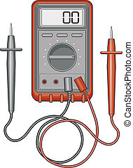 Multimeter - Illustration of a multimeter, also known as a...