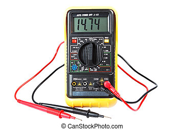 multimeter, a device on a white background