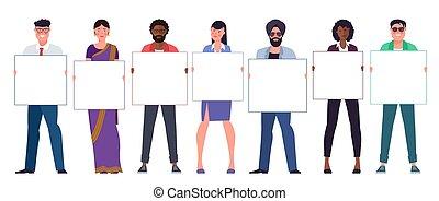 multinational, équipe, divers, jeunes hommes, femmes