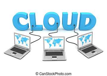 multiple, câble, nuage