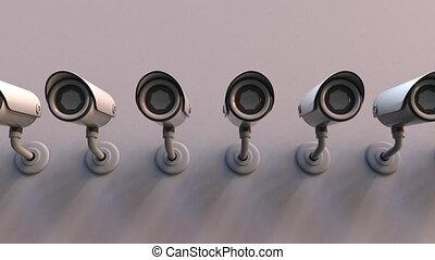 Multiple CCTV cameras - Surveillance or CCTV cameras on the...