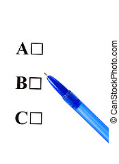 Multiple Choice,ABC,Four options