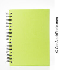Multiple color note book isolated with white background