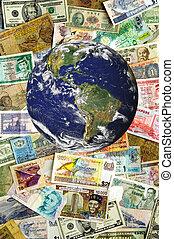multiple, devises, traverser, globe