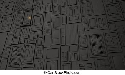 Multiple Doors to Green - Computer generated animation of a...