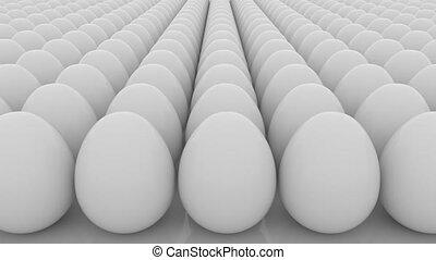 Multiple eggs seamless loop motion background. Life,...