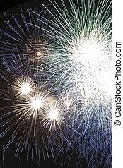 fireworks - multiple fireworks