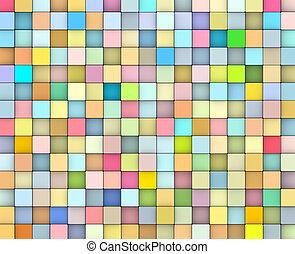 multiple, gradient, résumé, couleur, toile de fond, 3d