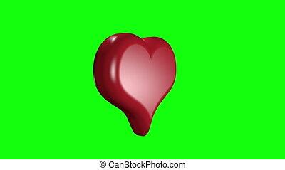 multiple hearts green screen