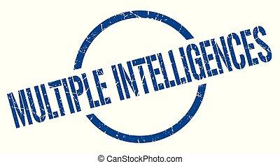multiple intelligences stamp - multiple intelligences blue...