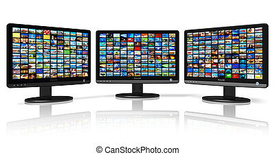 Multiple monitors with images - Multiple monitors with image...