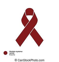 multiple myeloma ribbon - image of Awareness Ribbons Color &...