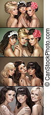 Multiple picture of three beautiful women - Multiple picture...
