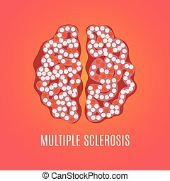 Multiple sclerosis poster with brain - Multiple sclerosis...
