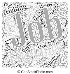 Multiple Scopes for Freelance Jobs Word Cloud Concept