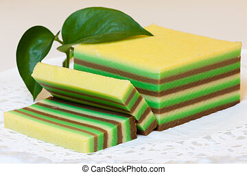 Multiple thin layers cake - Picture of Asian multiple thin...