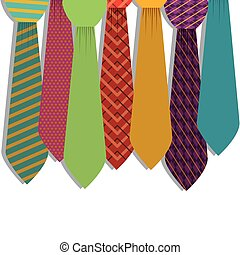 Multiple ties in various colors with figures