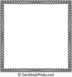 Multipler Zig Zag frame Black