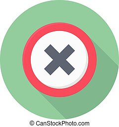 multiply vector colour flat icon