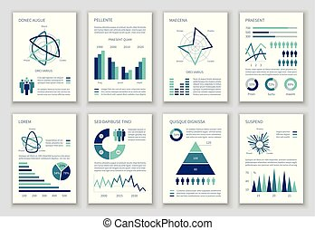 Multipurpose marketing vector infographics with charts, option graphs and people demographic icons