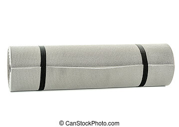 Multipurpose mat rolled up and secured - Rolled up yoga mat