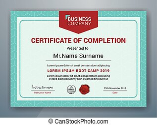 Multipurpose Professional Certificate Template Design for Print. Vector illustration